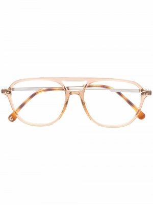 Солнцезащитные очки-авиаторы черепаховой расцветки Carrera. Цвет: 09q brown