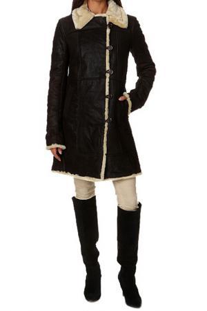 Пальто Isaco & Kawa. Цвет: коричневый