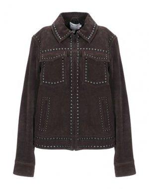 Куртка FRAME. Цвет: темно-коричневый