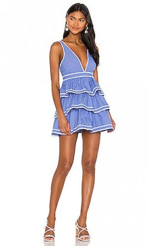 Платье clark Lovers + Friends. Цвет: синий