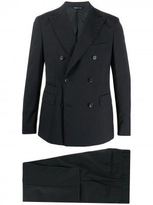 Костюм-двойка с двубортным пиджаком Tonello. Цвет: черный