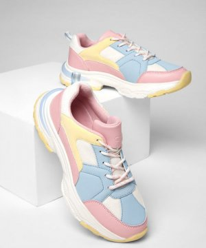 Кроссовки для девочек O`Stin. Цвет: розово-голубой