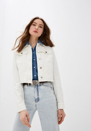 Куртка джинсовая Sportmax Code. Цвет: бежевый