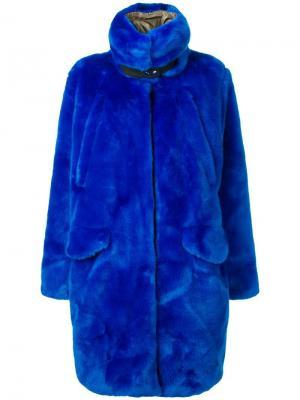 Faux-fur midi coat Rossignol. Цвет: синий