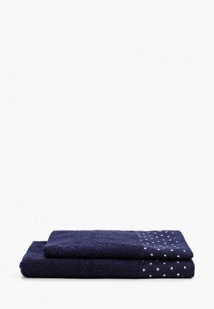 Набор полотенец Эго 50х85 см, 70х135 см. Цвет: синий