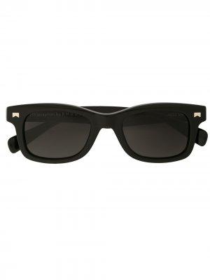 Солнцезащитные очки Sun Ray в прямоугольной оправе Rhude. Цвет: черный