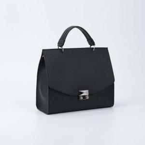 Мессенджер, отдел на замке, наружный карман, длинный ремень, цвет чёрный TEXTURA