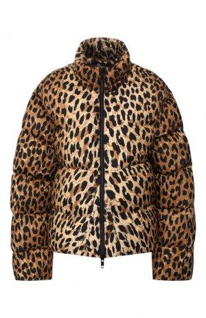 Утепленная куртка Balenciaga. Цвет: леопардовый