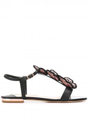 Декорированные сандалии Riva Sophia Webster. Цвет: черный