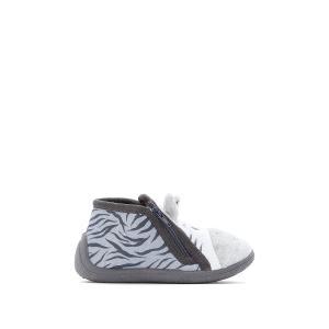 Пинетки для малышей зебра LA REDOUTE COLLECTIONS. Цвет: серый