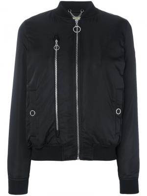 Classic fitted bomber jacket DKNY. Цвет: чёрный