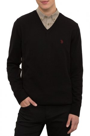 Пуловер U.S. Polo Assn.. Цвет: vr046 черный
