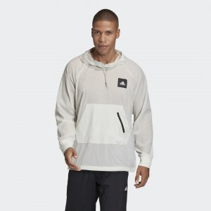 Худи Must Haves Woven Athletics adidas. Цвет: серый