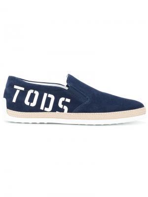 Tods кеды с принтом-логотипом Tod's. Цвет: синий