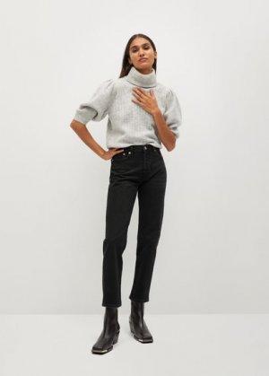 Прямые джинсы из хлопка - Mar Mango. Цвет: черный деним