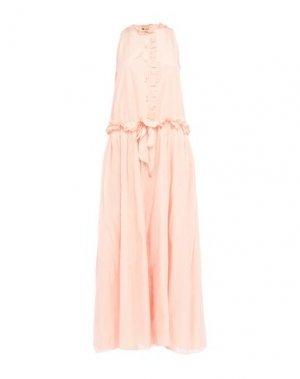 Длинное платье LANVIN. Цвет: светло-розовый