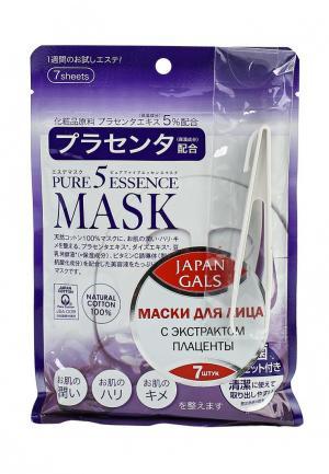 Набор масок для лица Japan Gals с плацентой Pure 5 Essential, 7 шт