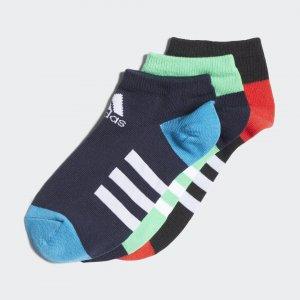 Три пары носков Low Performance adidas. Цвет: зеленый