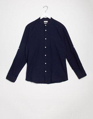 Рубашка с воротником на пуговице и длинными рукавами -Темно-синий Esprit