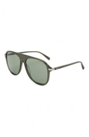 Солнцезащитные очки Brioni. Цвет: зелёный