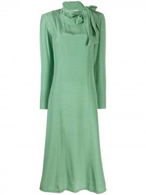 Длинное платье A.F.Vandevorst. Цвет: зеленый