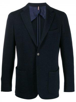 Delloglio фактурный пиджак Dell'oglio. Цвет: синий