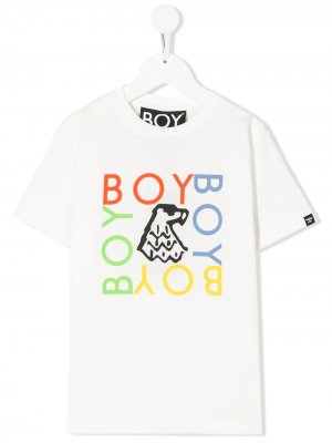 Футболка с логотипом Boy London Kids. Цвет: белый