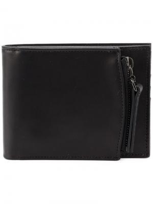Бумажник с отделением на молнии Maison Margiela. Цвет: черный