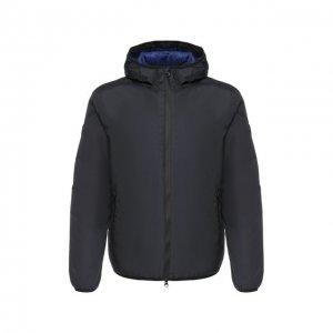 Утепленная куртка на молнии с капюшоном Ea 7. Цвет: синий