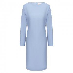 Платье BOSS. Цвет: синий