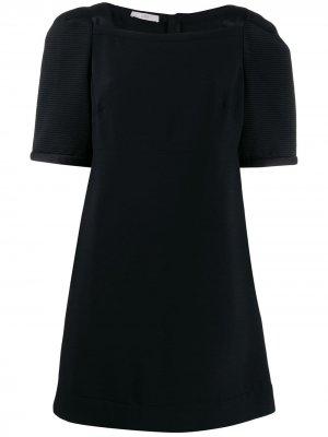 Короткое платье с объемными рукавами Prada Pre-Owned. Цвет: черный