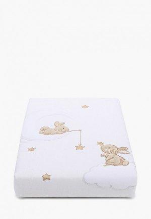 Одеяло детское Заяц на подушке 80х120 см. Цвет: белый