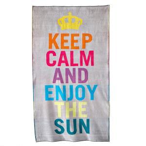Пляжное полотенце, 420 г/м², Obidos LA REDOUTE INTERIEURS. Цвет: серый
