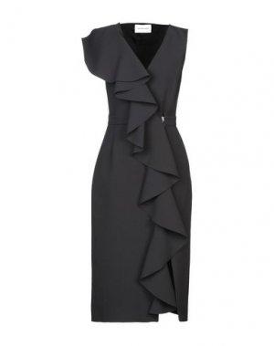 Платье длиной 3/4 ALEXANDR ROGOV. Цвет: черный