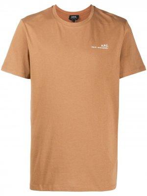 Logo-print T-shirt A.P.C.. Цвет: коричневый