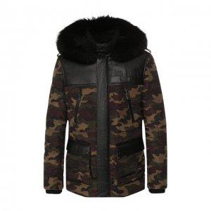 Утепленная куртка Philipp Plein. Цвет: хаки