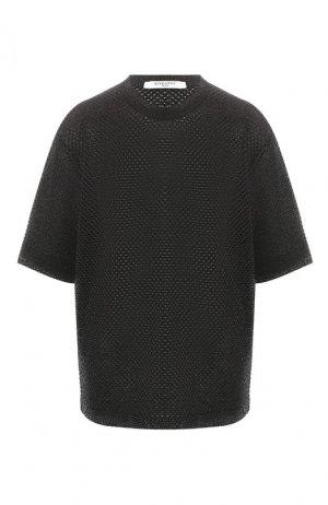 Пуловер из смеси хлопка и вискозы Givenchy. Цвет: черный