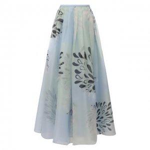 Шелковая юбка Giorgio Armani. Цвет: синий