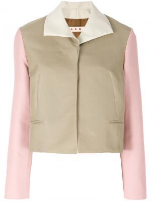 Пиджак дизайна колор-блок Marni. Цвет: телесный