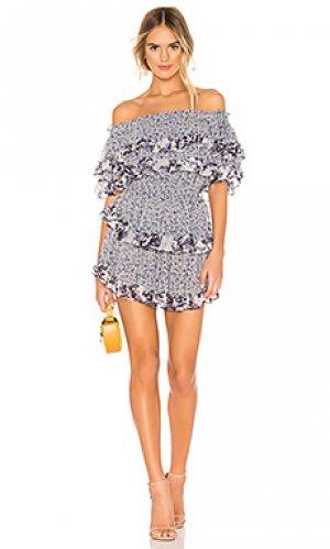 Платье kailey MISA Los Angeles. Цвет: синий