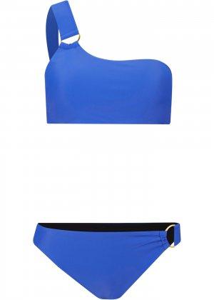 Купальник раздельный бандо (2 изд.) bonprix. Цвет: синий