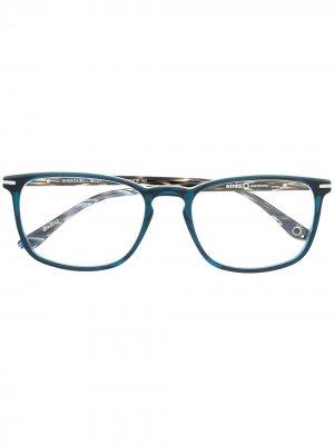 Двухцветные очки в квадратной оправе Etnia Barcelona. Цвет: коричневый