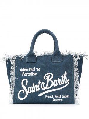 Пляжная сумка Vanity Mc2 Saint Barth. Цвет: синий