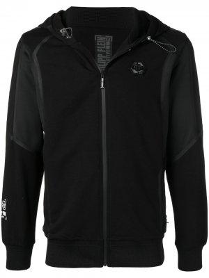 Спортивная куртка с капюшоном Philipp Plein. Цвет: черный