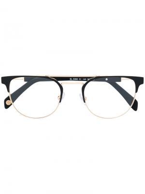 Bicolour glasses Balmain. Цвет: чёрный