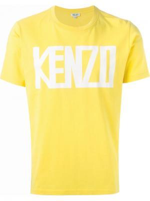 Футболки и жилеты Kenzo. Цвет: жёлтый и оранжевый