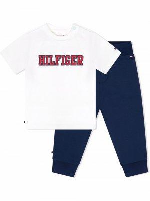 Спортивный костюм с логотипом Tommy Hilfiger Junior. Цвет: синий