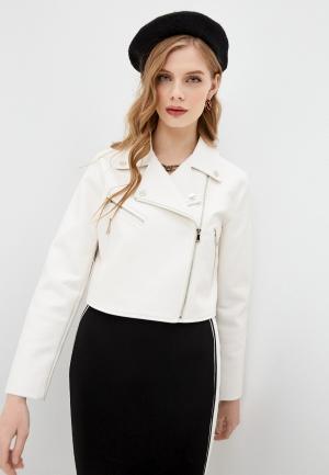 Куртка кожаная Twinset Milano ACTITUDE. Цвет: белый