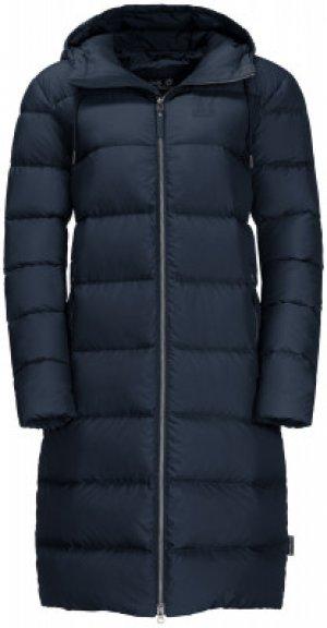 Пальто пуховое женское Jack Wolfskin Crystal Palace, размер 52-54. Цвет: синий