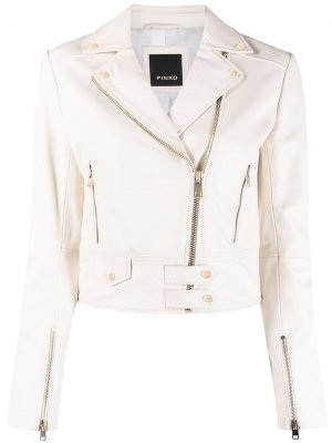 Байкерская куртка Pinko. Цвет: белый
